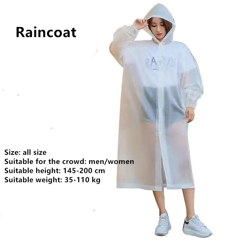 New Fashion Adult Colorful  Man/Women Raincoat Travel Waterproof Rainwear Poncho Outdoor Rain Coat 2020 enlarge