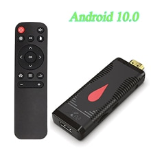 Nouveau Android 10.0 X96 S400 Smart TV Stick Allwinner H313 Quad Core 2G 16GB Smart Tv Box 4K 60fps H.265 2.4G Wifi TV Box Dongle