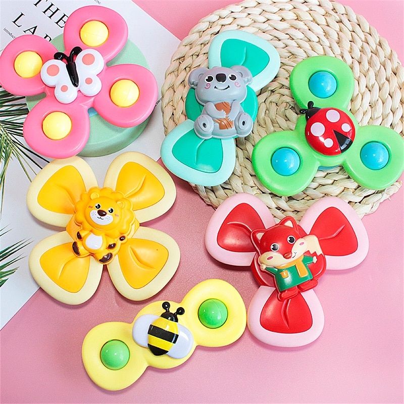 1pcs Cartoon Fidget Spinner Kids Toys ABS Colorful Insect Gyro Toy Relief Stress Educational Fingertip Rattle Toys For Children enlarge