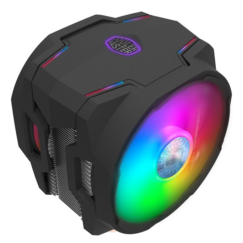 مبرد ماستر T610P ARGB 6 مروحة تبريد لوحدة المعالجة الرئيسية مزدوجة 120 مللي متر عنونة RGB مزامنة مروحة إنتل 115x2011 2066 AMD AM4 AM3