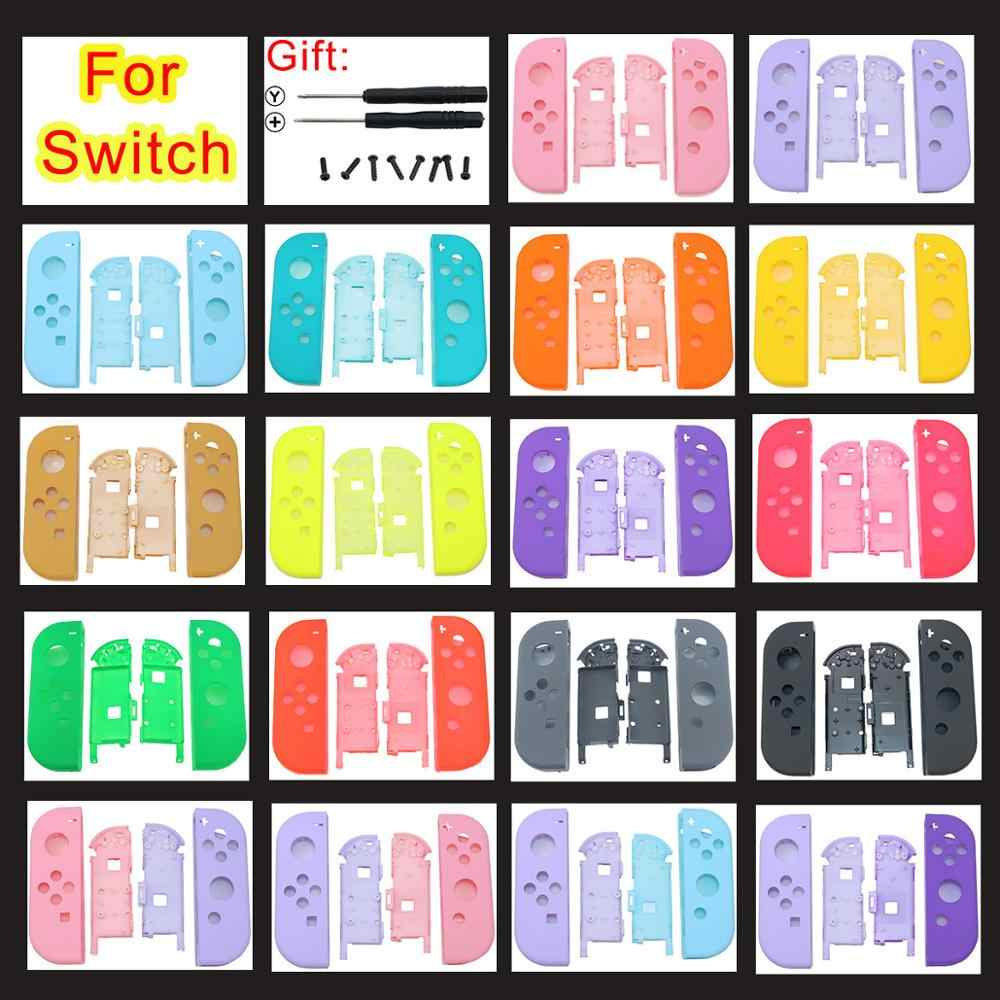 Jcd Para Nintendo Switch Ns Joy Con Carcasa De Repuesto Cubierta De Carcasa Para Nx Para Joycons Funda De Controlador Y Tornillos De Destornillador Estuches Aliexpress