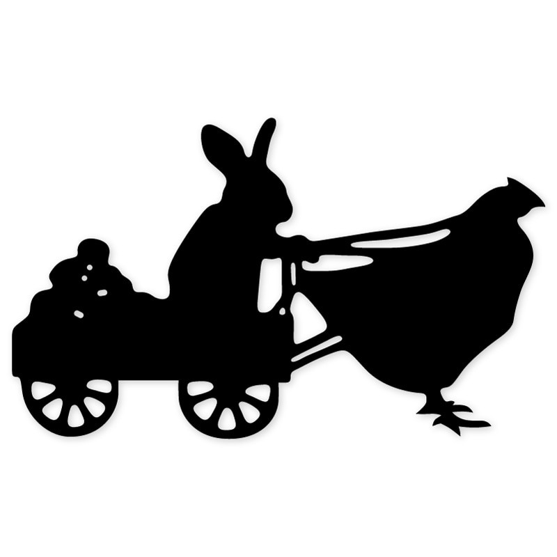 cutting dies Easter Bunny Pull Chicken Metal Cutting Dies Stencils for DIY Scrapbooking Paper Cards Making embossing craft dies