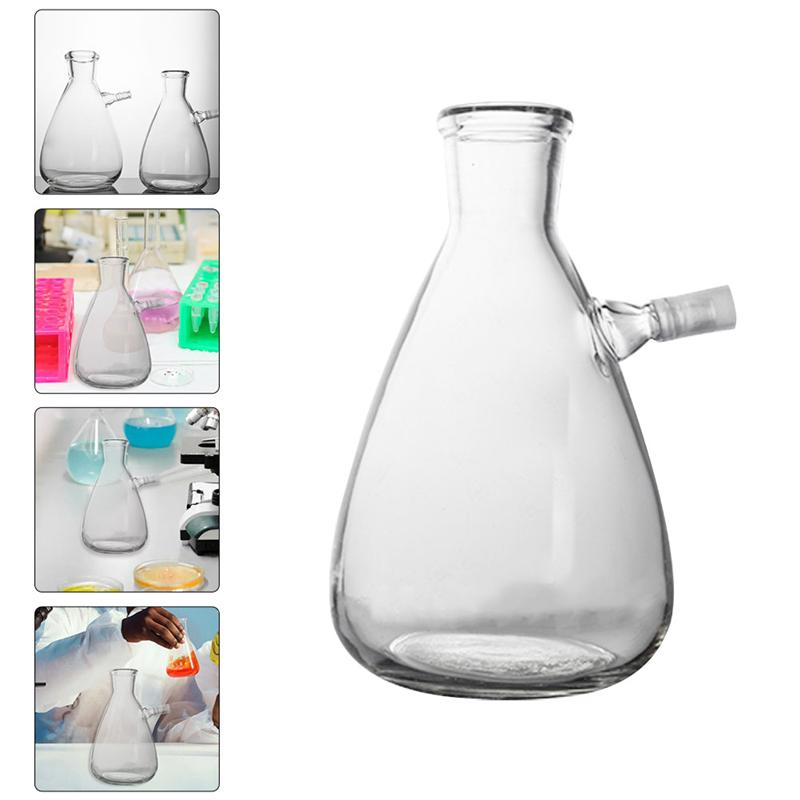 1pc Filtering Flask Glass Flask with Upper Tubulation Professional School Supply