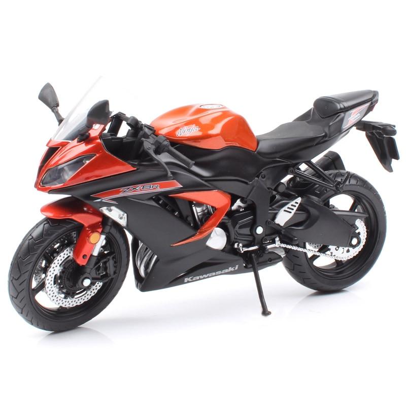 1:12 مقياس كاواساكي نينجا 636 ZX 6R سباق الدراجات النارية ZX-6R دييكاست نموذج المركبات السيارات هواية مصغر لجمع