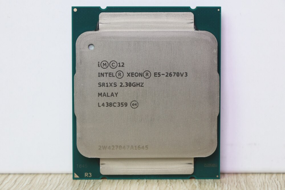 Intel Xeon CPU official e5-2670v3 sr1xs x99 2.30 GHz 30m 12 core E5 2670 e5-2670 V3 lga2011-3 processor E5 2670v3 CPU enlarge
