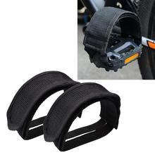Vélo pédale sangles pédale orteil Clips sangles bande Slip Double sangles adhésives pour engrenage fixe vélo débutant noir 2 pièces