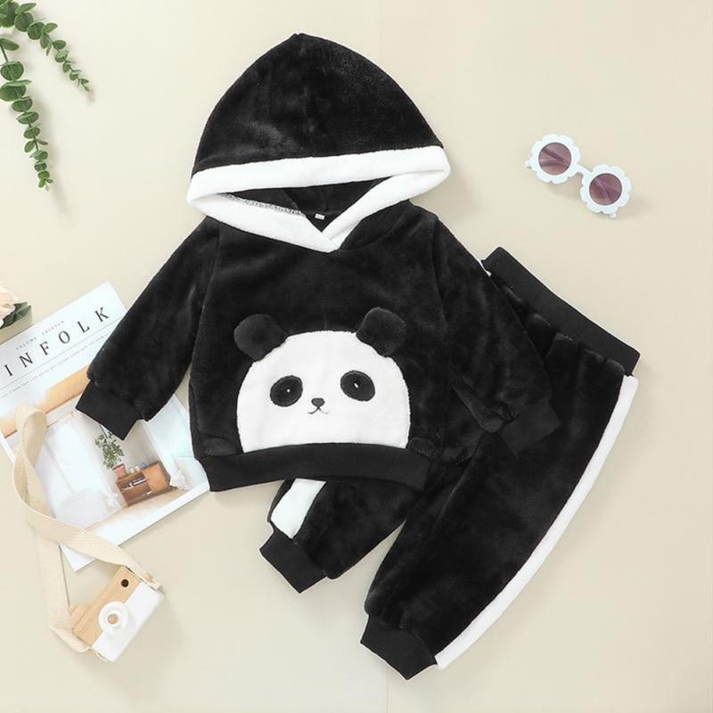 Bobora Toddler Infant Baby Boys Girls Long Sleeve Hoodie Tops Sweatsuit Pants Outfit Set