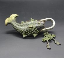 Tibet pur cuivre bronze poisson serrure pendentif cuivre serrure cuivre bronze maison pendentif cuivre serrure