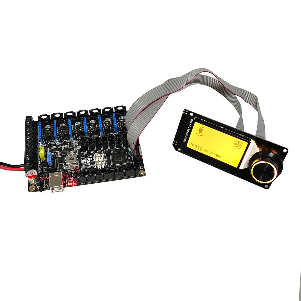 S6 V2.0 Board 32 Bit Control Board Support 6X TMC Drivers Uart/SPI Flying Wire XH/MX Connector VS F6 V1.3 SKR V1.3