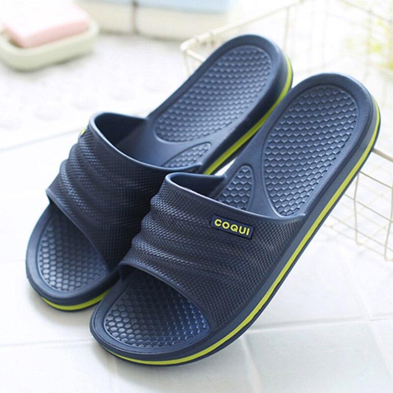 House Slippers Men stripe Platform Slippers women EVA Non-slip Indoor Slippers Couple Home slippers Bathroom Summer Shoes Men