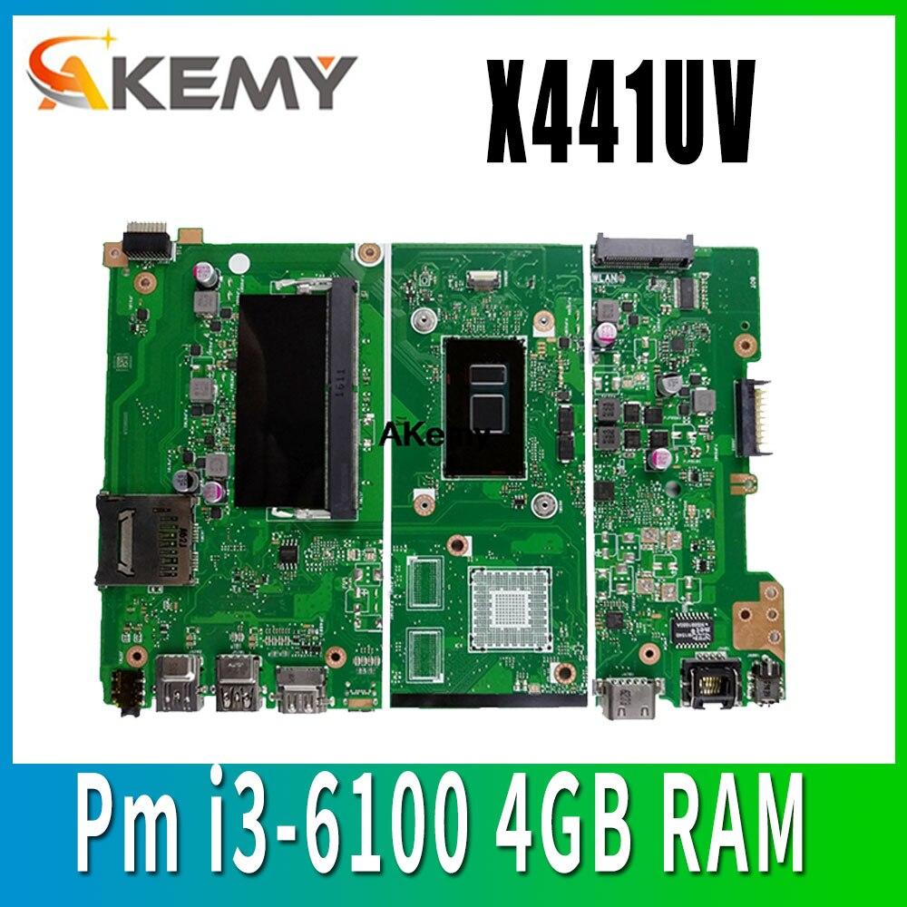 X441uv placa-mãe para asus x441u x441uv f441u a441u portátil placa-mãe notebook original teste pm i3-6100 4 gb ram