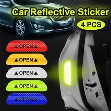 Autocollants réfléchissants douverture de porte de voiture, 4 pièces, marque davertissement pour Lifan X50 X60 620 320 CEBRIUM SOLANO NEW smiley Geely X7 EC7