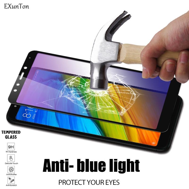 Protector de pantalla para Redmi 5 Plus, 5A, 4X, cristal templado, protección contra rayos azules, para Xiaomi Redmi 5 Plus