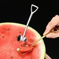creative popular 304 stainless steel shovel spoon ice cream spoon sweet spoon watermelon spoon spoonful spoon