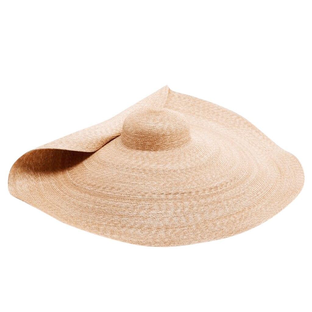 Sombrero de paja plegable con protección solar, Sombrero de paja plegable para...