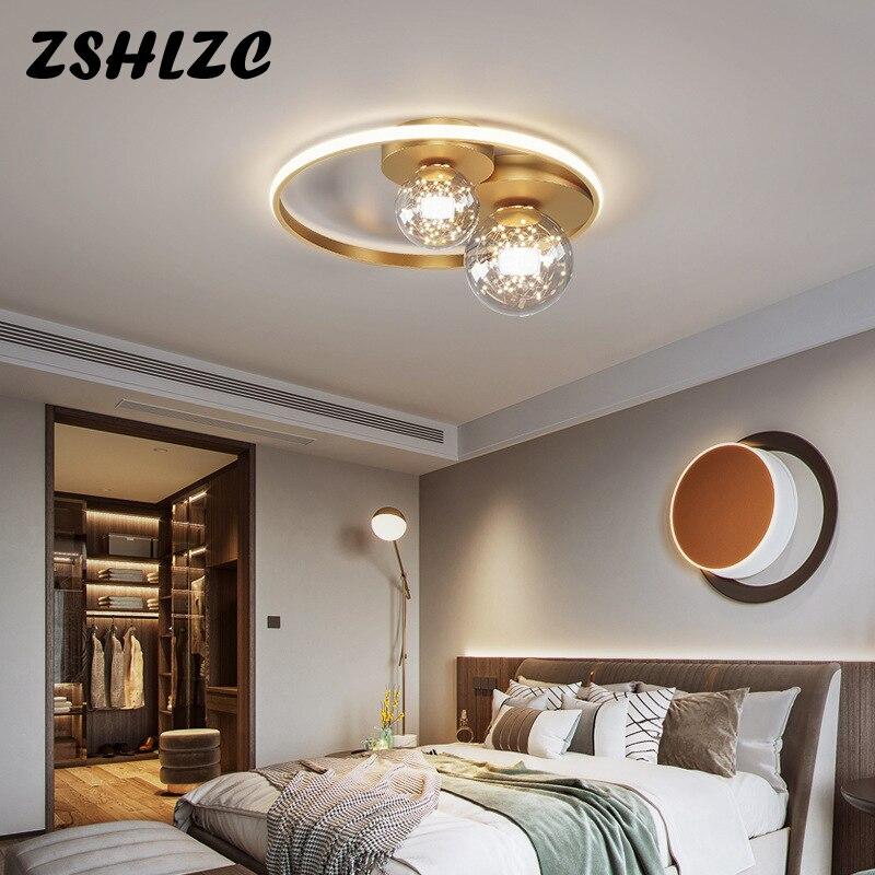 Современные светодиодные потолочные лампы люстры для гостиной Кабинета спальни кухни домашний декор Освещение черный золотой потолочный ...