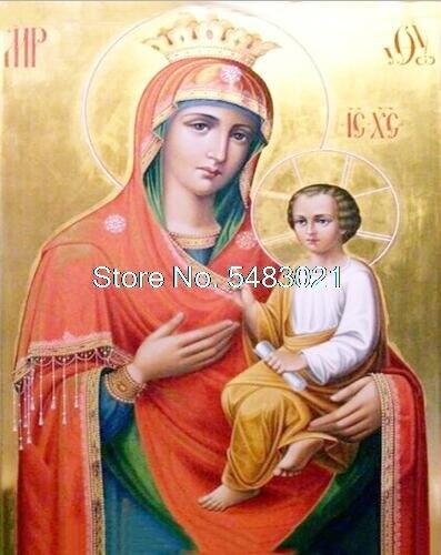 Ícono religioso de líder pintura por números ícono religioso colorear por números Virgen María dibujo por números religión pintura por número
