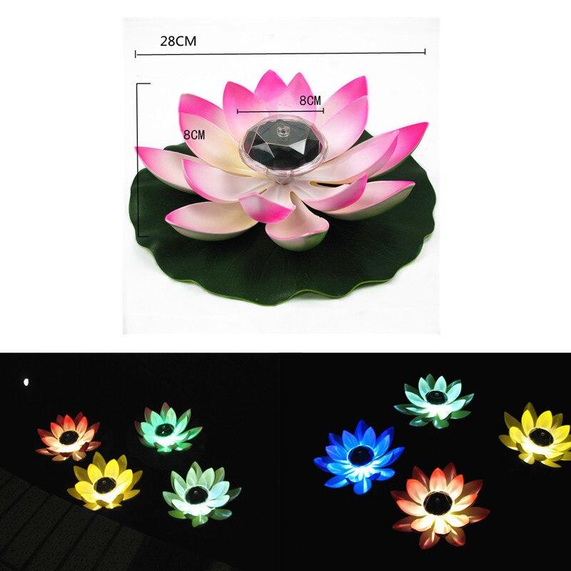 led submersivel luz subaquatica noite lampada de lotus ao ar livre jardim festa decoracao