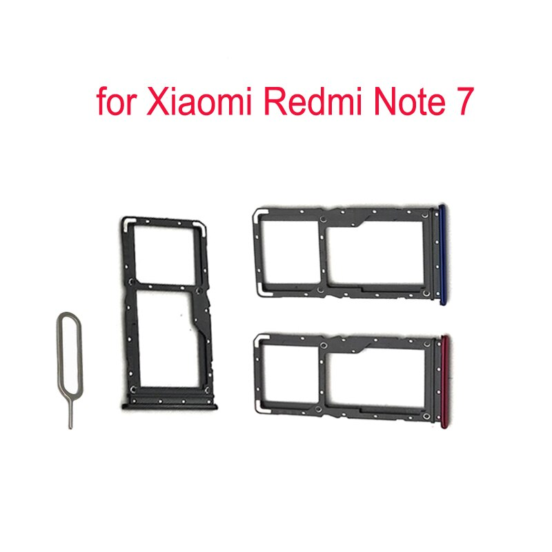 (5piece)For XIAOMI Redmi Note 7 Phone SIM Card Tray Adapter For Xiaomi Note 7 Original Housing New Micro SD Card Tray Holder enlarge