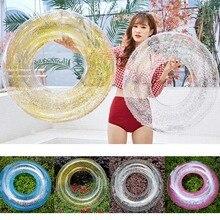Anneau de bain rond de radeau de scintillement de Tube de bain gonflable Transparent pour la piscine dété B99