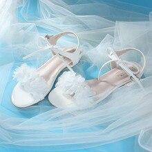 Jolie fille fleur Lolita chaussures Kawaii doux talon plat sandale juste dame facile-correspondant mode mode mode chaussures Loli Cos femmes