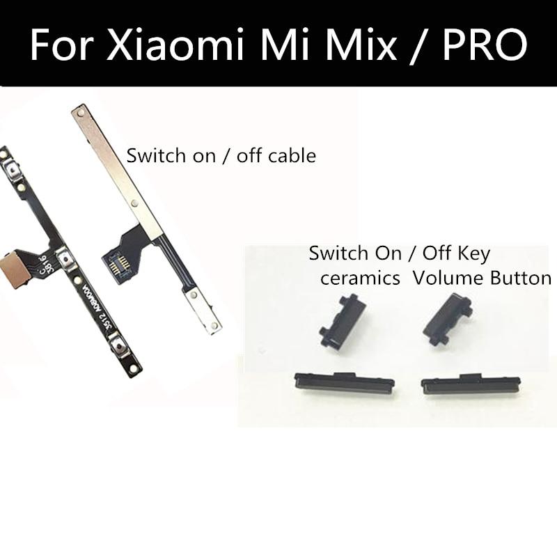 1 Juego para Xiaomi MI MIX PRO Power Switch On / Off botón de volumen Cable Flex