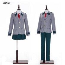 Anime mon héros académique Boku pas de héros académique Cosplay Costume Midoriya Izuku école uniforme veste jupe pantalon cravate perruque femmes hommes