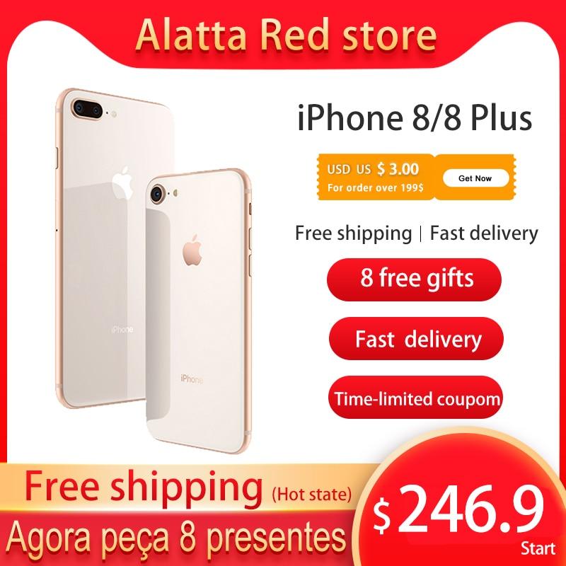 Original unlocked Apple iPhone 8 / iPhone 8 Plus used cellphone 4.7/5.5inch IOS iphone8 smartphone 64GB/256GB ROM 4G LTE 7+12MP