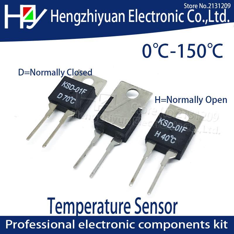 Interruptor Térmico H D 90 KSD-01F 95 100 105 110 115 120 125 130 135 150 Graus C NO Normalmente Aberto Sensor de Temperatura Do Termostato