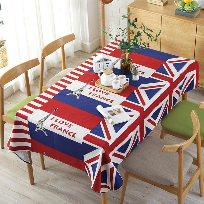 20 torre da bandeira mosaico toalha de mesa lona impresso hotel toalha de mesa toalha de mesa chá pano mahjong máquina pano