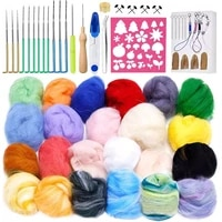 lmdz needle felting kit jupean wool felting tool kit felting supplies with 24 colors felting wool roving felt needles