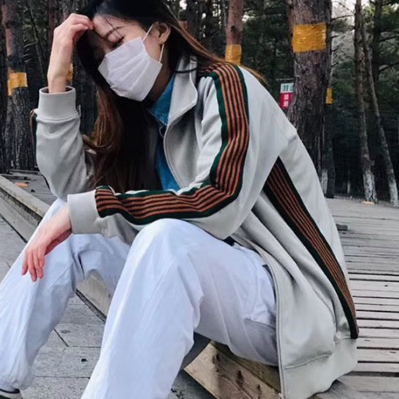 Весенне-осенняя куртка на молнии Wei Yi весенне-осенняя спортивная куртка для отдыха для мужчин и женщин