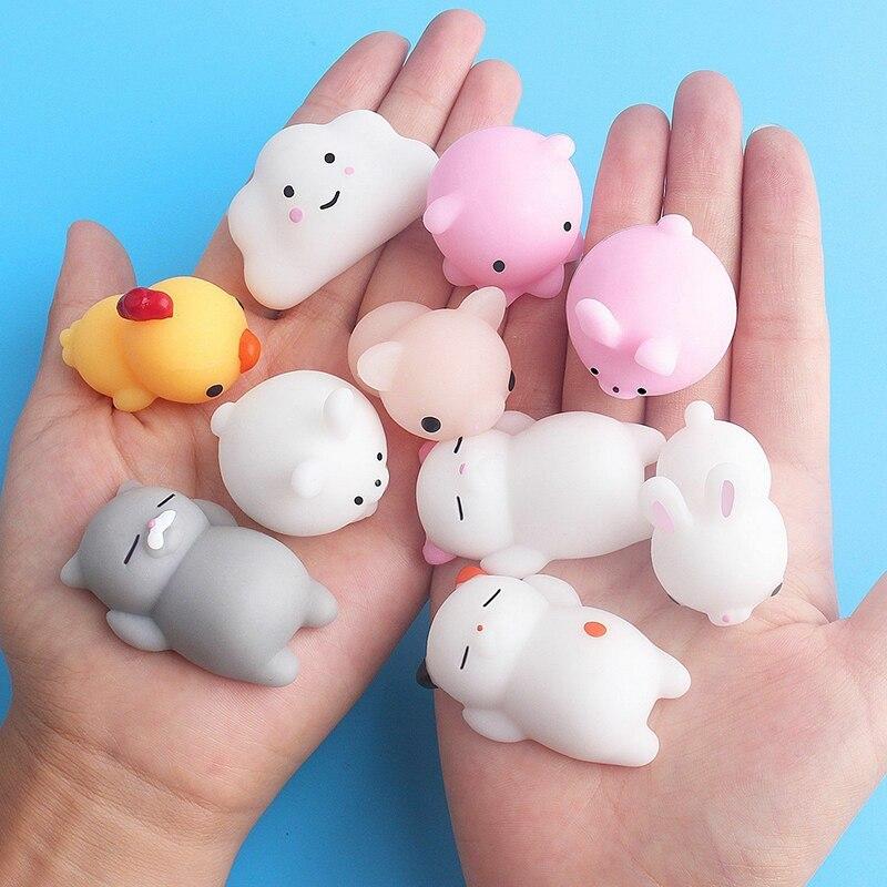 30Pcs Mini Animal Squishies Kawaii Mochi Squeeze Stress Toys Soft Squishy Gifts Mochi Animals Stress Toys Various Random Pieces enlarge