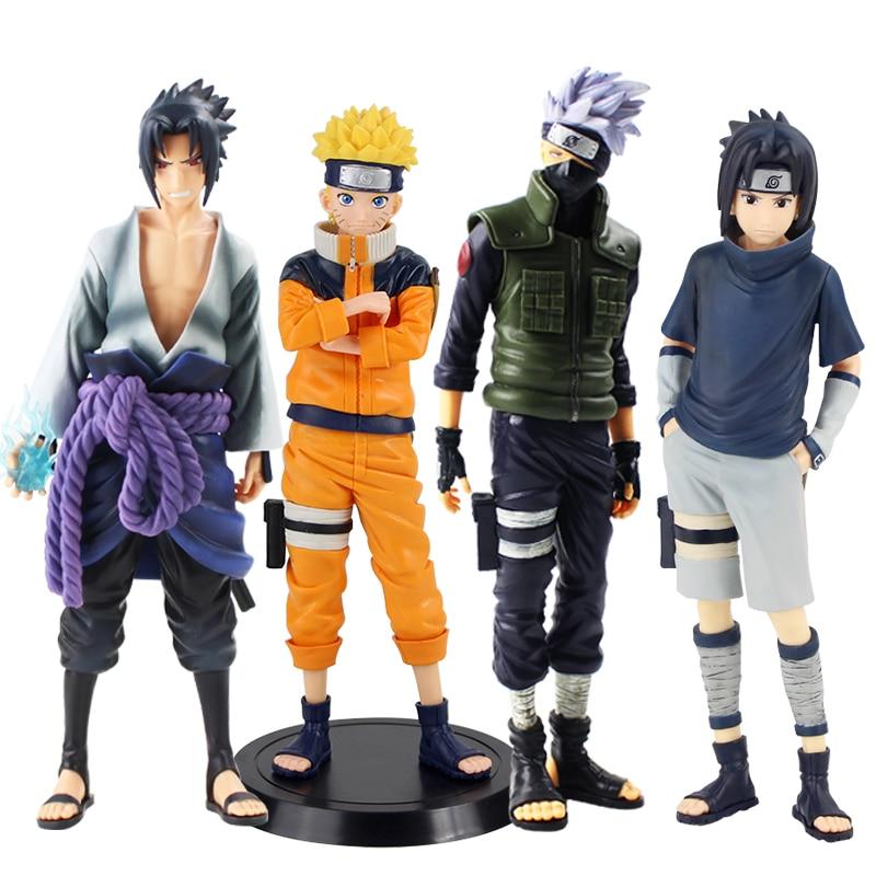 Anime 1/7 échelle peint Naruto Grandista Shinobi Relations Uzumaki Naruto / Uchiha Sasuke / Hatake Kakashi Action PVC figurine jouet