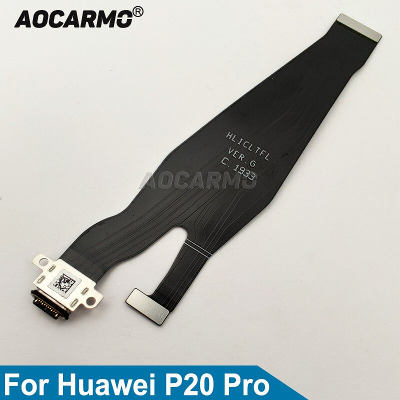 Aocarmo Type-C USB Charging Port Charger Dock Connector Flex Cable For Huawei P20 Pro