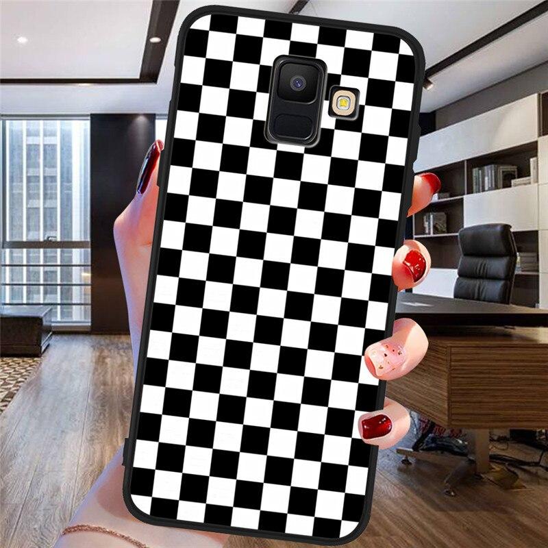 Клетчатый клетчатый чехол для телефона Samsung Galaxy A9 A8 A7 A6 A5 A3 J3 J4 J5 J6 J8 Plus 2017 2018 M30 A40S A10 A20E ETUI
