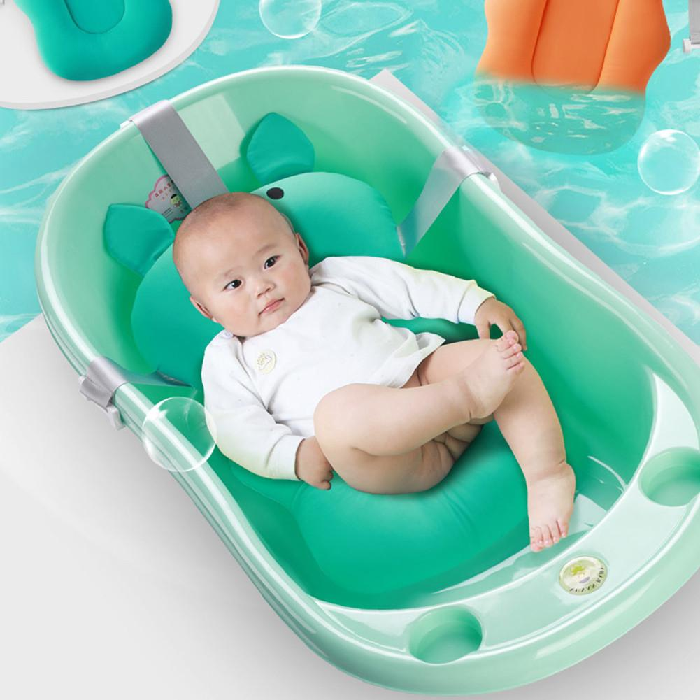 Baby Bath Pillow Soft Nonslip Baby Bath Mat Comfy Floating Bathing Pad for Newborn Infant Toddler