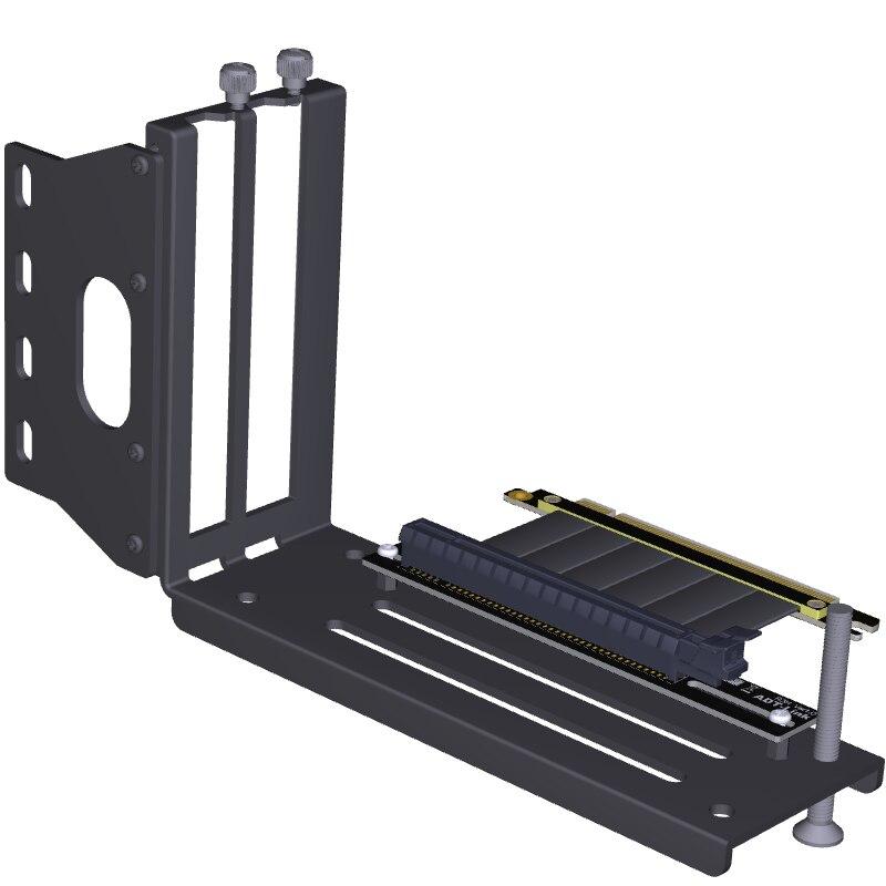 Tarjetas gráficas soporte Vertical PCIe 3,0x16 tarjeta de vídeo gráfica a PCIe 3,0x16 cable de extensión de ranura para ATX PC-caso