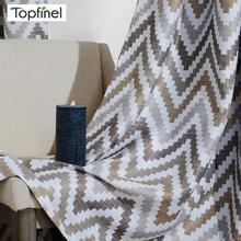 Topfinel Mosaic Printed Wave izolacja termiczna panele zaciemniające zasłony do salonu sypialnia kuchnia pokój dziecięcy