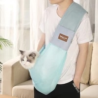 cat going out carrying bag collapsible pet cat dog backpack crossbody cat small dog oxford bag one shoulder cat bag pet supplies