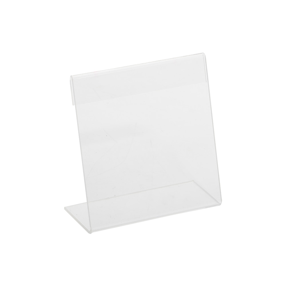 plastic acrylic display hanging stand holder shelf layers for quick store cigarette bottle commodity wall hung 1set Square L Shape 10x10cm Supermarket Shelf Plastic Acrylic Label Holder Display Stand for Table Top Name Card Display