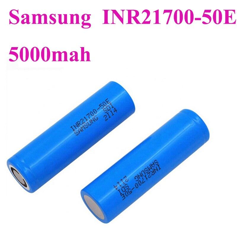 Original Samsung INR21700-50E 3.7v 14.7A 5000Mah  21700 Rechargeable Lithium ion Battery