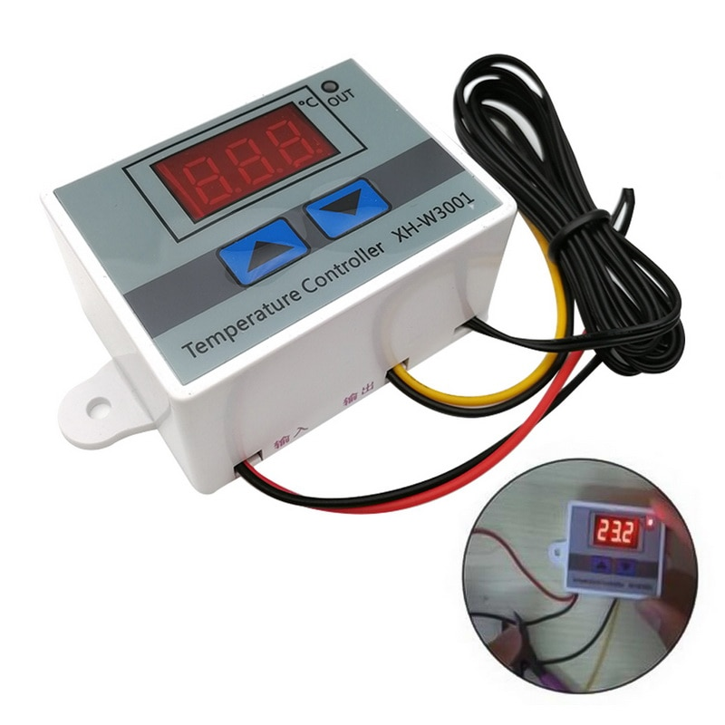 Digital LED Temperature Controller For Incubator Cooling Heating Switch Thermostat NTC Sensor Temperature Controller Switch