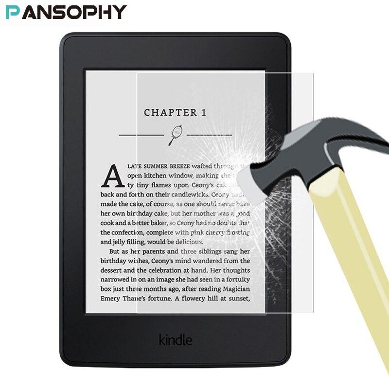 """9H 0,3mm Protector de pantalla para Amazon Kindle Paperwhite cubierta Kindle cubierta de vidrio templado 6 """"para Kindle Paperwhite tableta amortiguador Tech accesorio beige Rojo Negro compruebe Tartan tableta amortiguador 2015 de vidrio templado"""