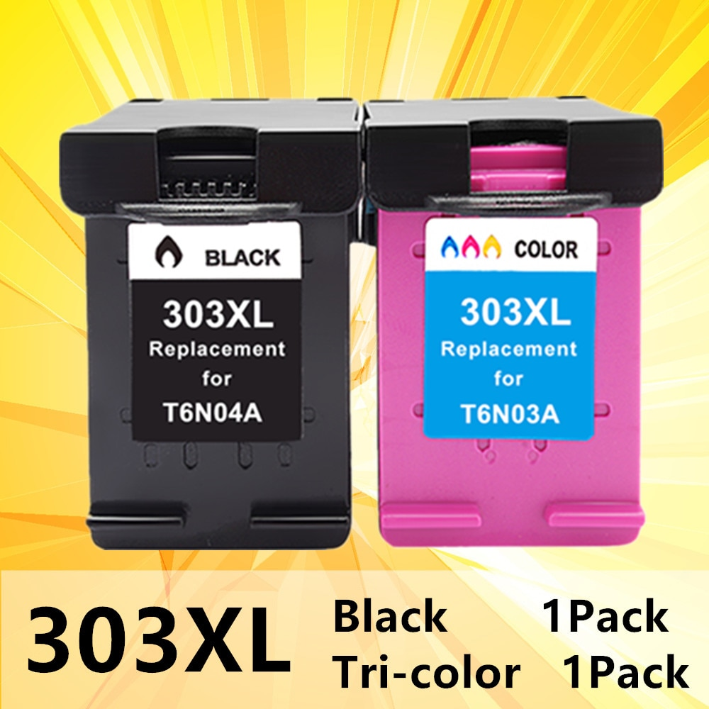 303XL Cartridge Compatible T6N04A for HP 303 xl Ink Cartridges for Envy Photo 6020 6030 6220 6230 7120 7130 7134 7830 printer