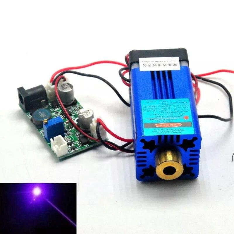 405 нм 150 мВт фиолетовый синий лазер точка модуль W% 2F TTL +% 26 вентилятор охлаждение сцена освещение 12В