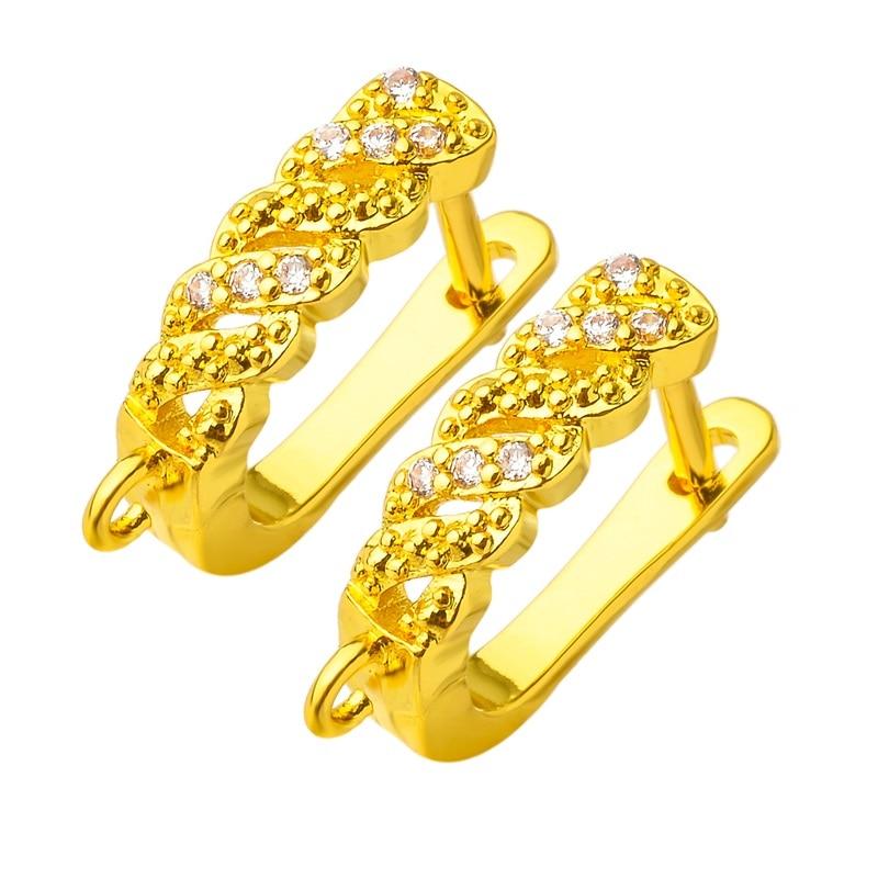 Charme brincos de bronze fivela jóias acessórios czdiy borla cristal jóias fazendo suprimentos jóias descobertas kpop atacado