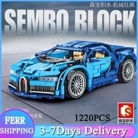 sembo moc technical pull back sports car building blocks super racing vehicle model bricks toys gifts for kids 701941