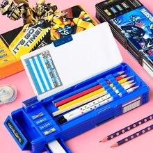 Grande capacité Grade 1 porte-crayon élèves multi-fonction papeterie transformateurs pour enfants maternelle porte-crayon