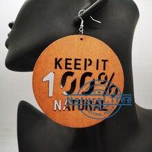 2020 Keep 100% natural wooden earrings